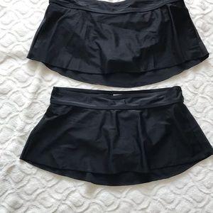 NWOT black skirt bathing suit bottoms